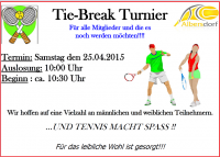 Tie-Break Tunier2015 ticker